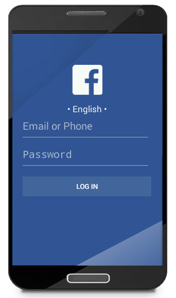 Figure 1. Spoofed Facebook login dialog