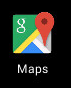 Figure 3. The app changes its icon to emulate Google Maps