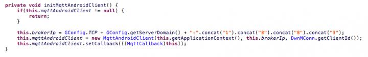 Initiating the MQTT client.