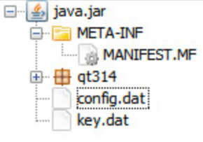 Figure 5. jRAT's configuration file, config.dat, can be decrypted using the AES key in key.dat