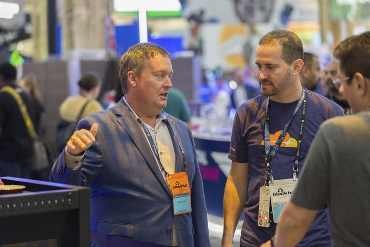 Brian Varner at the Symantec Cryptojacking demo at Black Hat