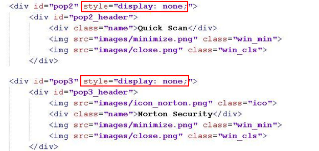 "Figure 3. The display property is set to ""none"" to ensure that the div element is not visible to the victim"