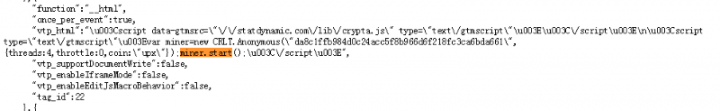 Figure 5. Decrypted source code of Crypta.js