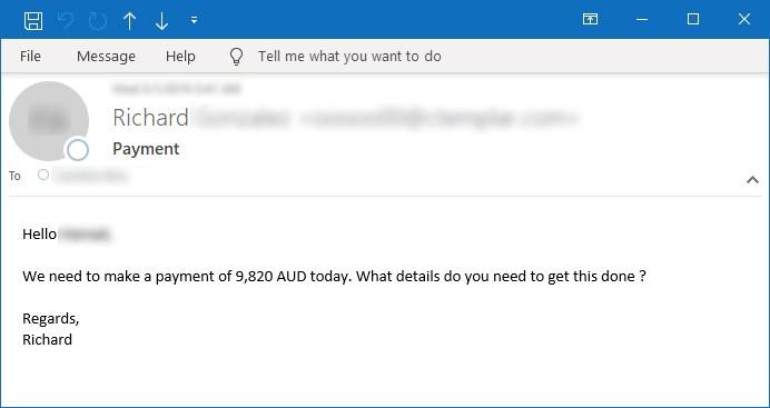Figura 7. Ejemplo de correo electrónico que indica el pago electrónico el mismo día
