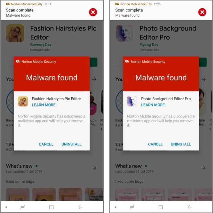 Figure 1. Hidden app malware on Google Play