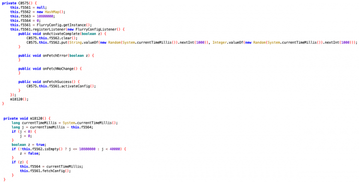 Figure 2. Partial extract of malware's code shows how configuration file is requested